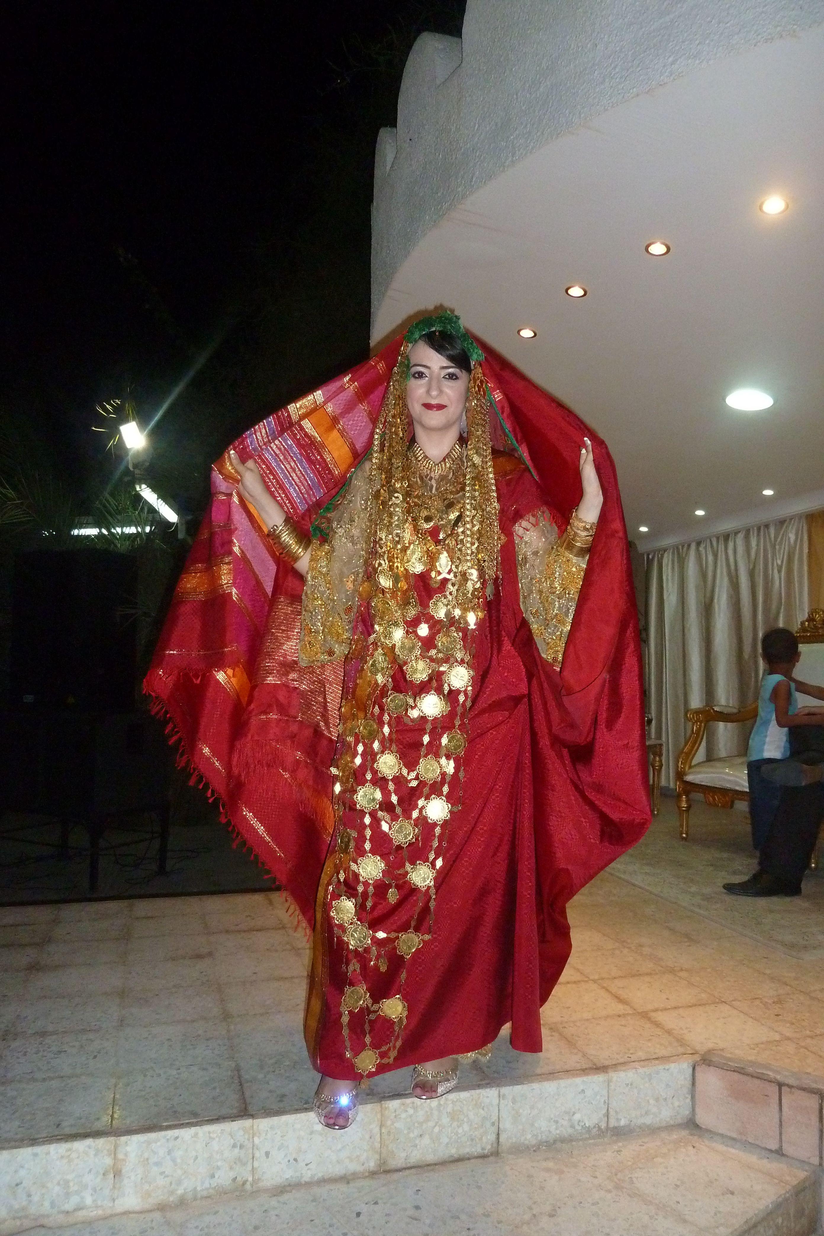 Tunisian wedding - first traditional dress | My wedding | Pinterest