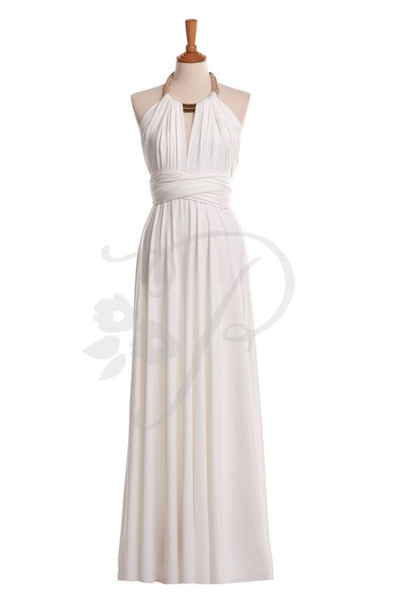 b79e1373e3 Our white floor length convertible dress accessorize with a necklace. By  The Peppy Studio (previously known as Craftingsg) Buzz us at ...