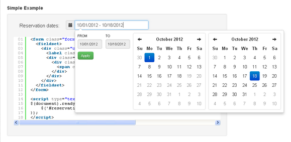 Boostrap Date Range Picker Dating Web Design Pickers