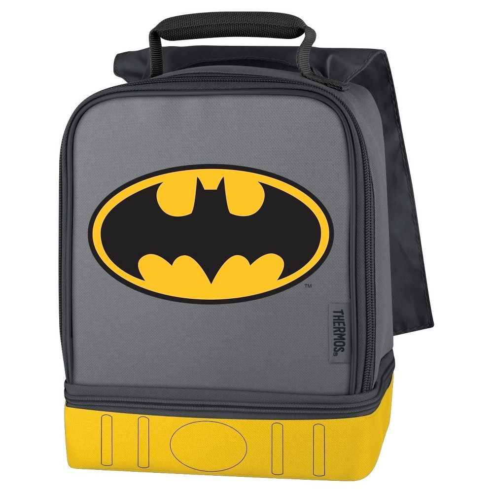 Thermos Dual Compartment Lunch Kit with Cape, Batman, Purple