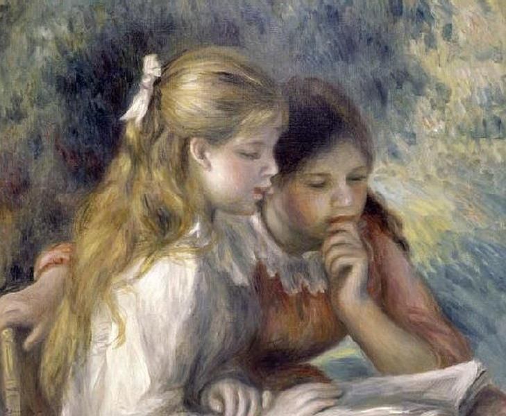 La lectura, Renoir, 1919
