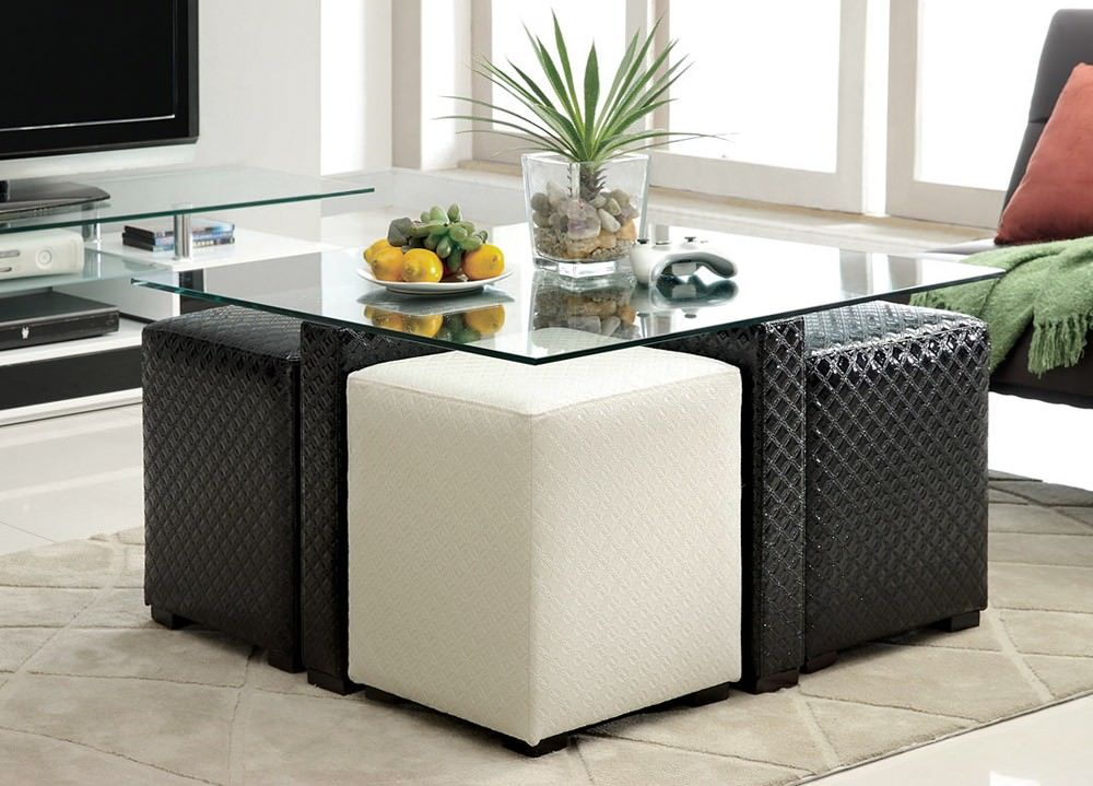 Square Coffee Table With Stools Underneath Home Interior Design Ideas Coffee Table With Stools Coffee Table With Seating Coffee Table With Stools Underneath