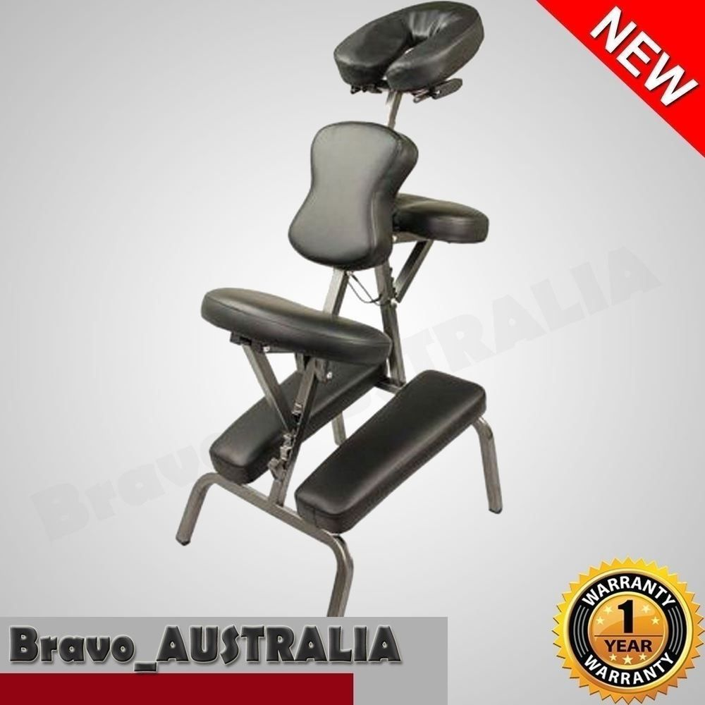 Aluminium Portable Massage Chair Table Beauty Therapy Tattoo Waxing Black Portable Chair Chair Office Massage Chair