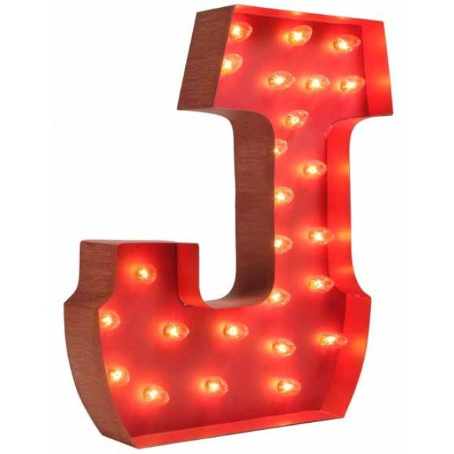 Lighted Carnival Letter J