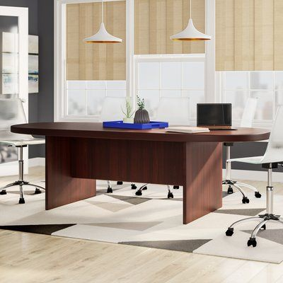Latitude Run Linh Racetrack Oval Conference Table Conference Table Furniture Global Office Furniture