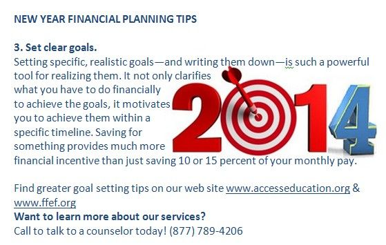 New Year Financial Planning Tips 3 Set Clear Goals Find Greater Goal Setting Tips On Our Web Site Www A Financial Tips Financial Planning Money Saving Tips