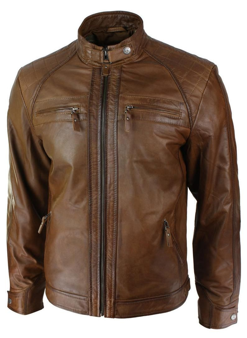 Hand Craft Quilted Shoulder Chocolate Brown Leather Biker Etsy In 2021 Men S Retro Style Leather Jacket Leather Jacket Men [ 1088 x 794 Pixel ]
