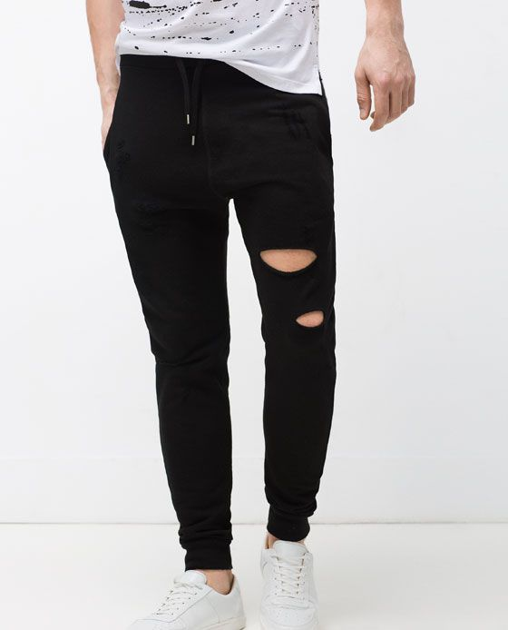 Photo of Image 2 of RIPPED TROUSERS from Zara