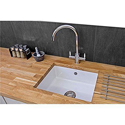 Reginox Mataro 1 0 Bowl White Ceramic Undermount Kitchen Sink Waste Sink Cast Iron Kitchen Sinks Stainless Steel Sinks