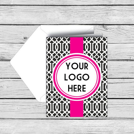 Vertical Trellis Business THANK YOU  NOTE Card by MADEbyMykeall - business thank you note