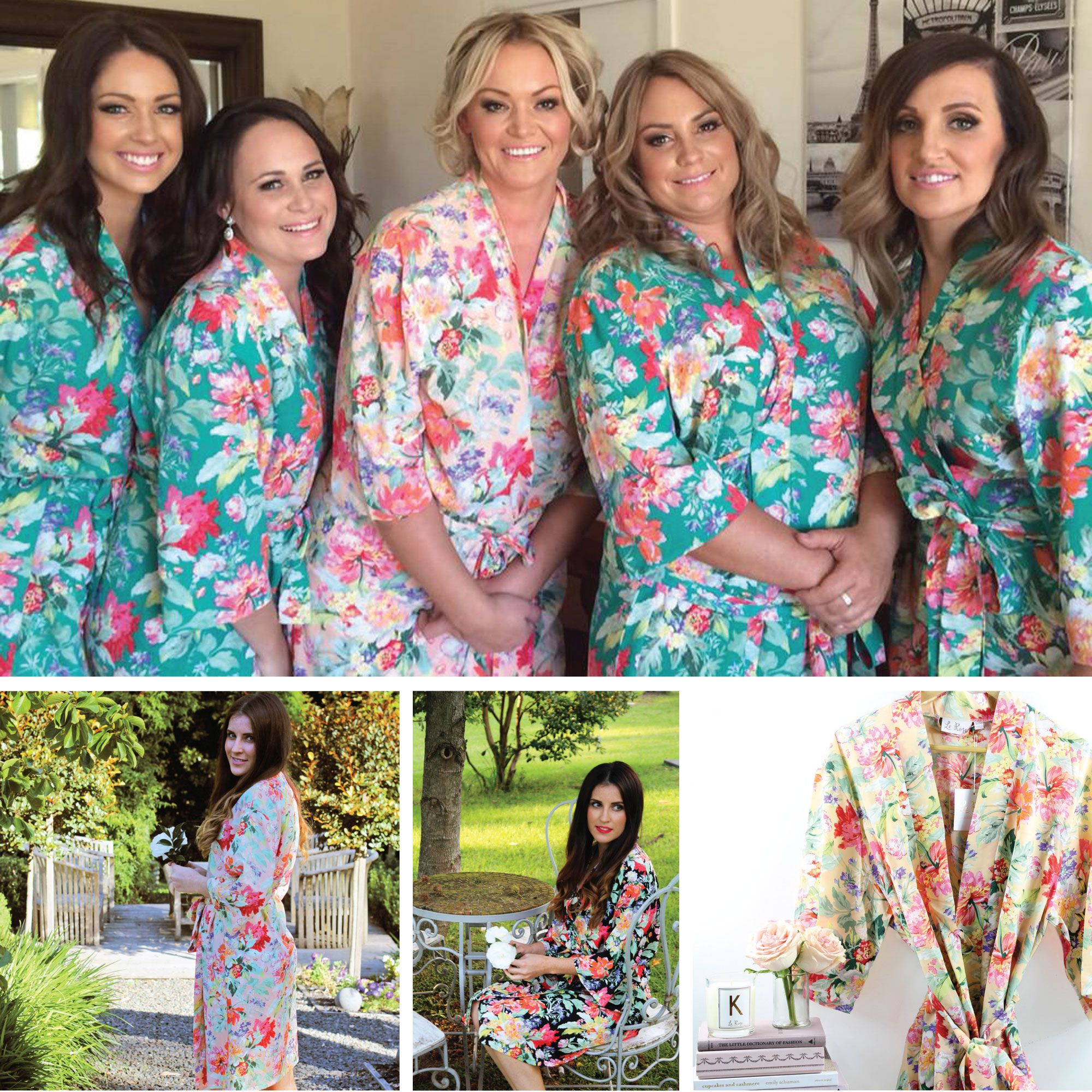 a3a91a2033 Our exclusive Le Rose beautiful floral print robes. icon name ...