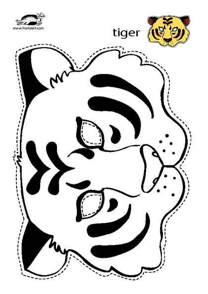 tiger mask | Masks | Tiger mask, Tiger costume, Mask for kids