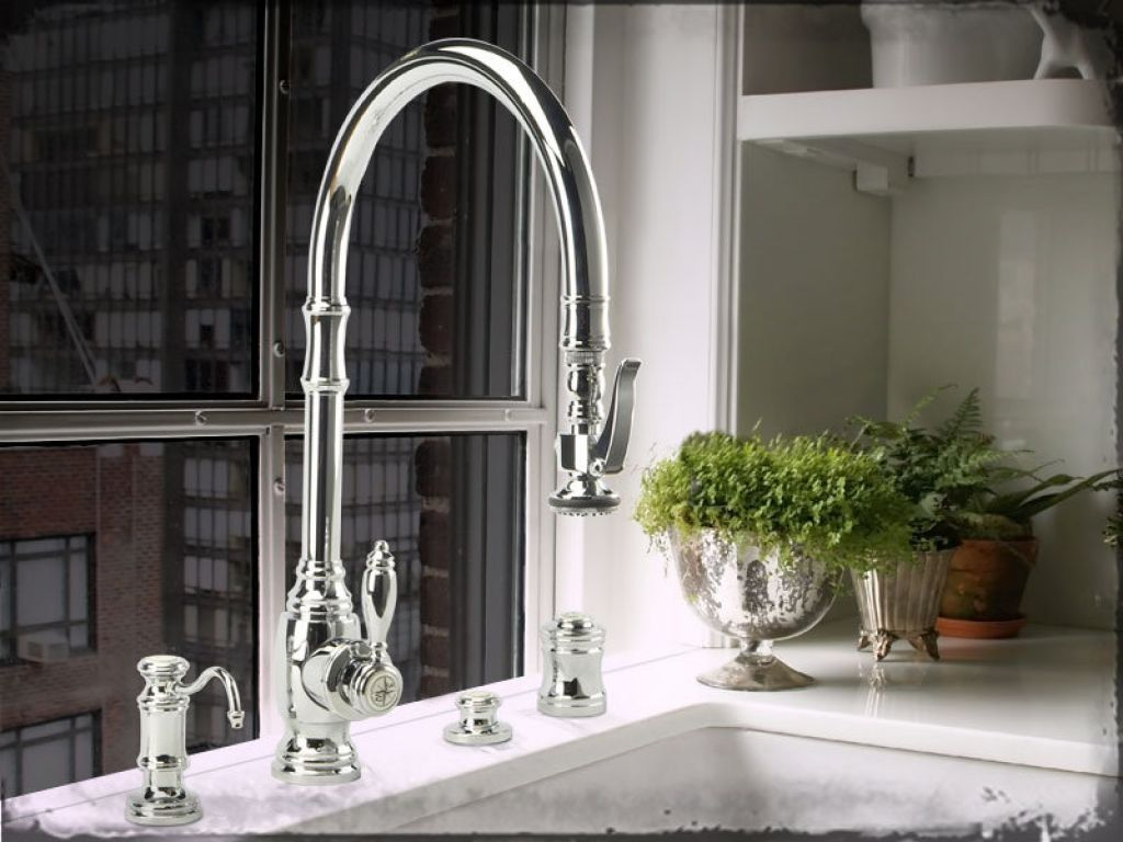 Wonderful American Standard Polished Nickel Kitchen Faucet EasySen ...