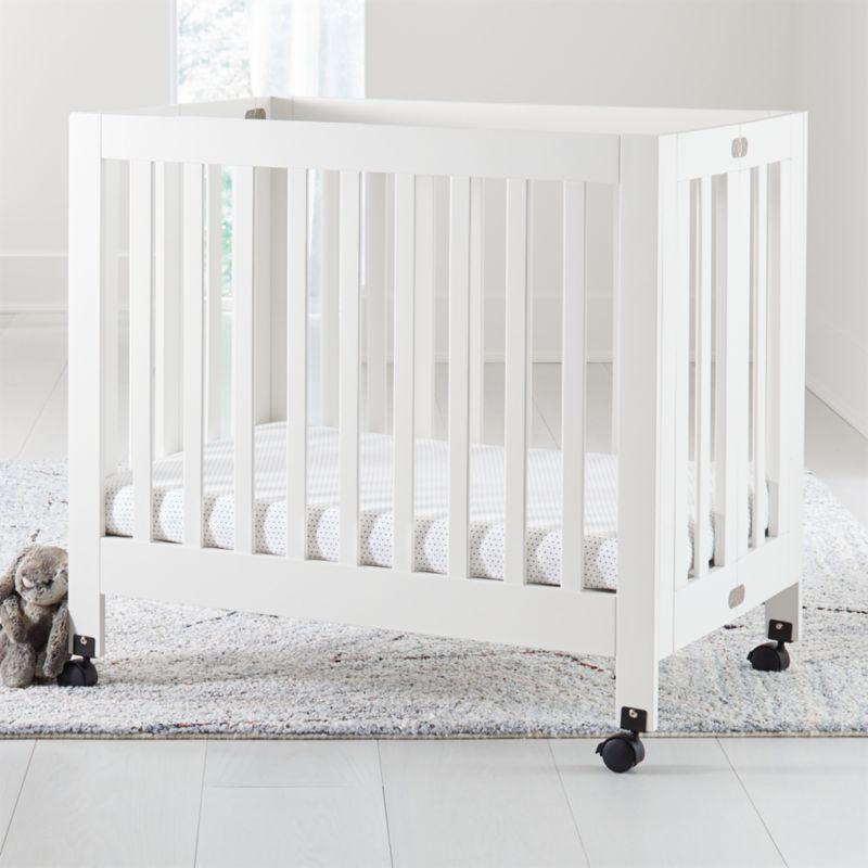 Babyletto Origami White Mini Crib Crate And Barrel