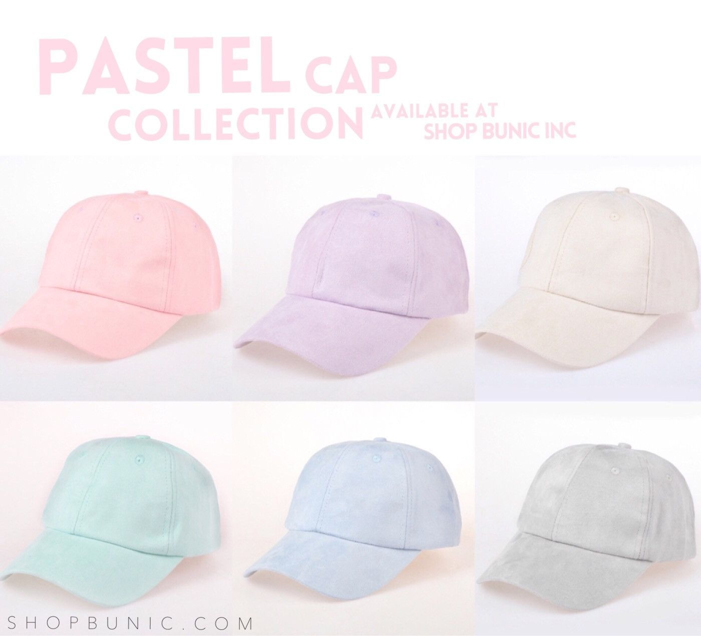 b78244c955b Beautiful Suede Pastel Colors! New to Shop Bunic Inc Hat Type  Baseball Cap  Material  Cotton