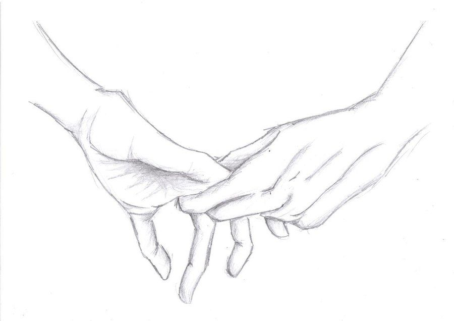Line Drawing Holding Hands : Reaching out by kemiiu on deviantart drawing