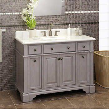 Casanova 48 Antique Gray Vanity By Lanza Gray Vanity Vanity Pink Bathroom