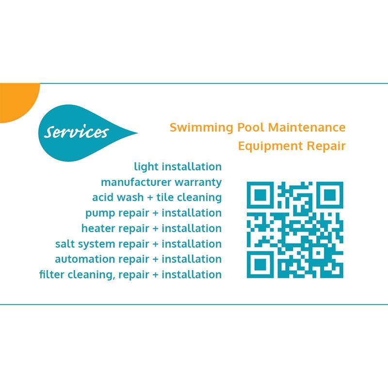 Swimming Pool Industry: SOS Pool Services Business Card Design The Business Card