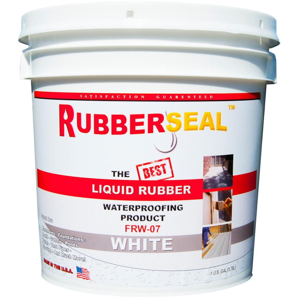 Rubberseal 1 Gal White Liquid Rubber 10005067 In 2020 Liquid Rubber Roof Sealant Liquid Waterproofing