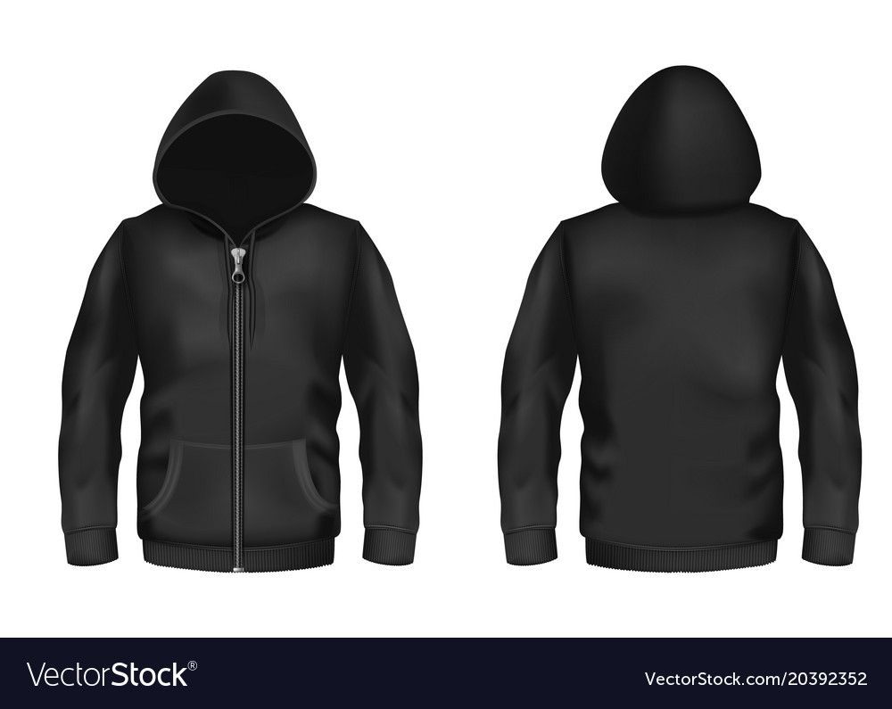 Download The Fascinating Mockup With Realistic Black Hoodie Vector Image Within Blank Black Hoodie Template Digital Photography Below Is Segment O Jaket Baju Kaos Kaos