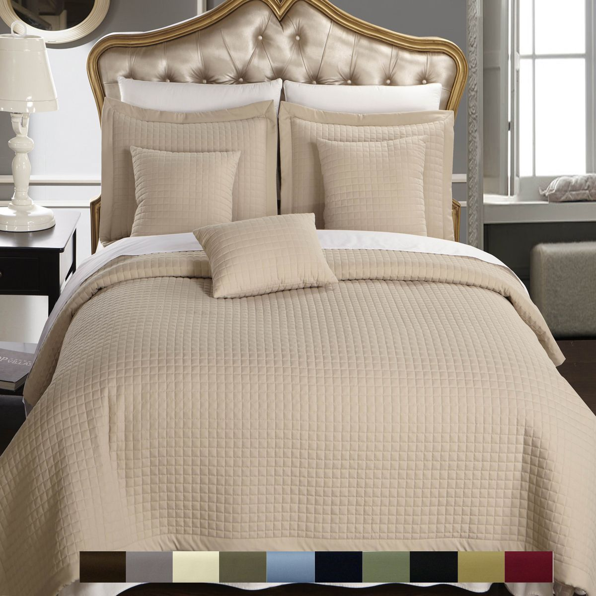 Discount Duos - Checkered Quilted Wrinkle Free Multi-Piece Coverlet Set, $69.99 (http://discountduos.com/checkered-quilted-wrinkle-free-multi-piece-coverlet-set/)