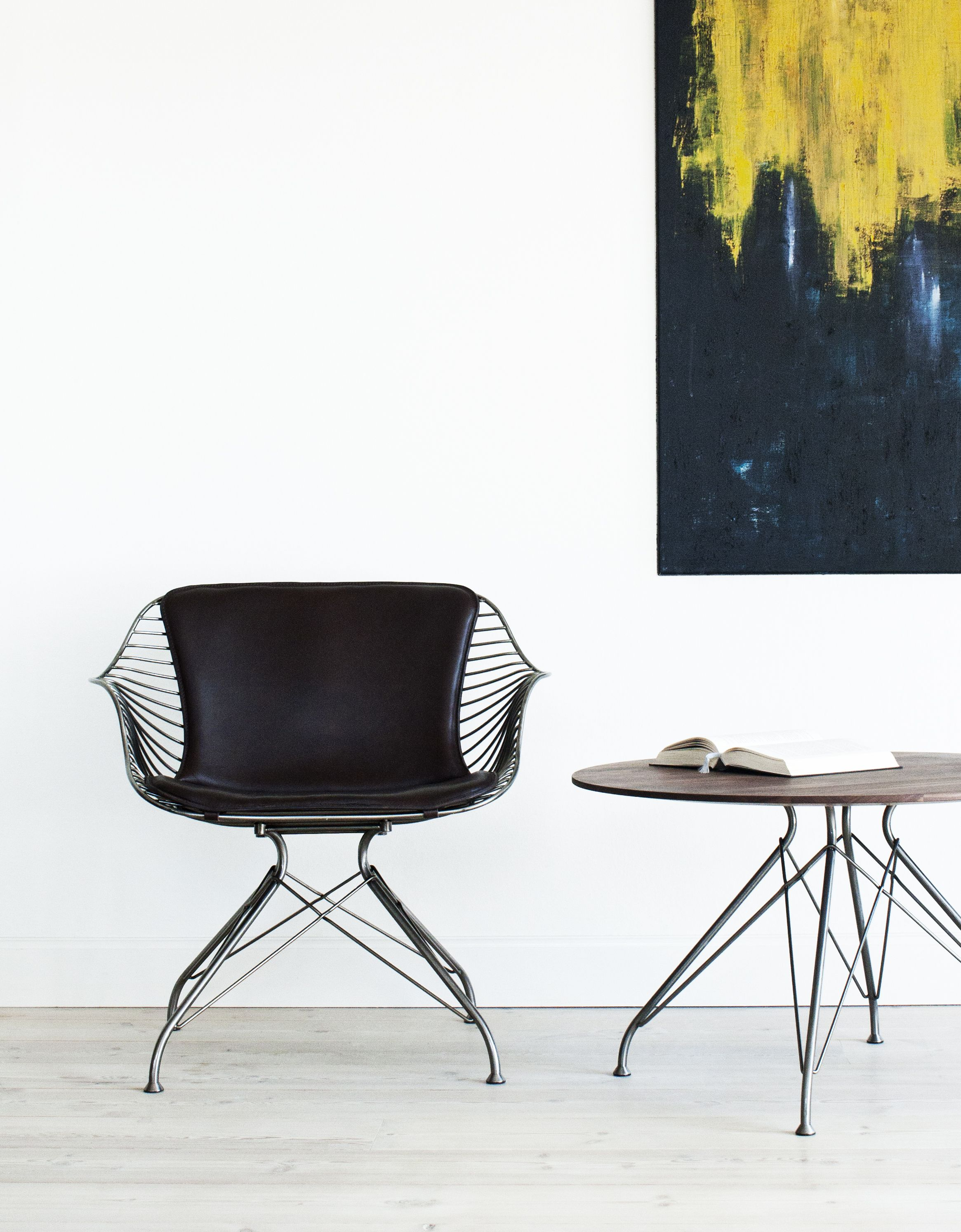 Overgaard & Dyrman Wire Lounge Chair and Wire Coffee Table