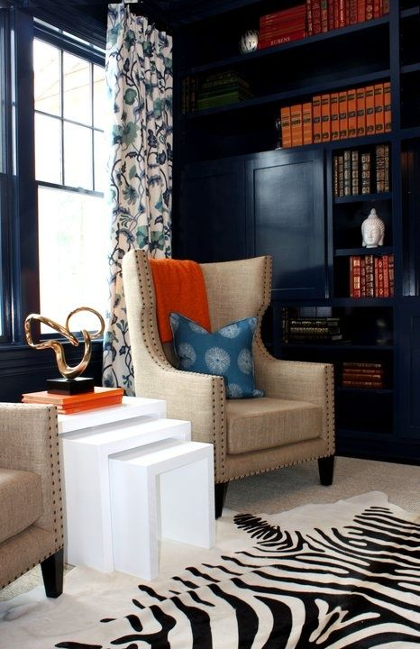 10+ Stunning Navy Walls Living Room