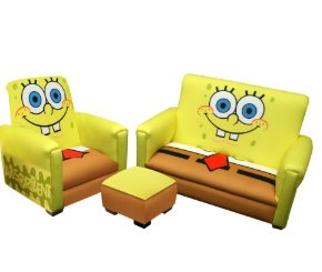 Fantastic Nickelodeons Spongebob Deluxe Toddler Sofa Chair And Gmtry Best Dining Table And Chair Ideas Images Gmtryco