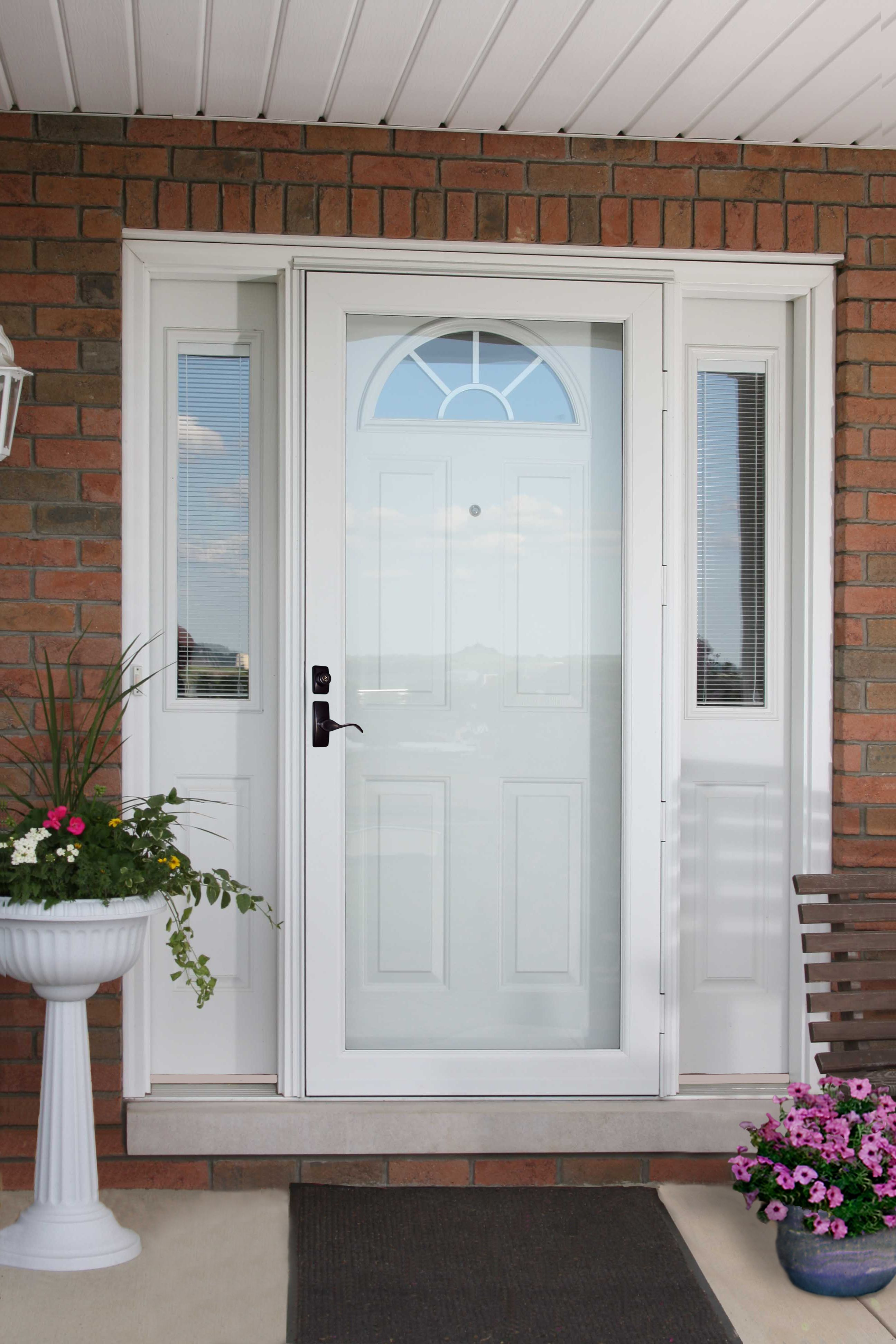 White Provia Storm Door Call Us For A Free Estimate Thomas V Giel