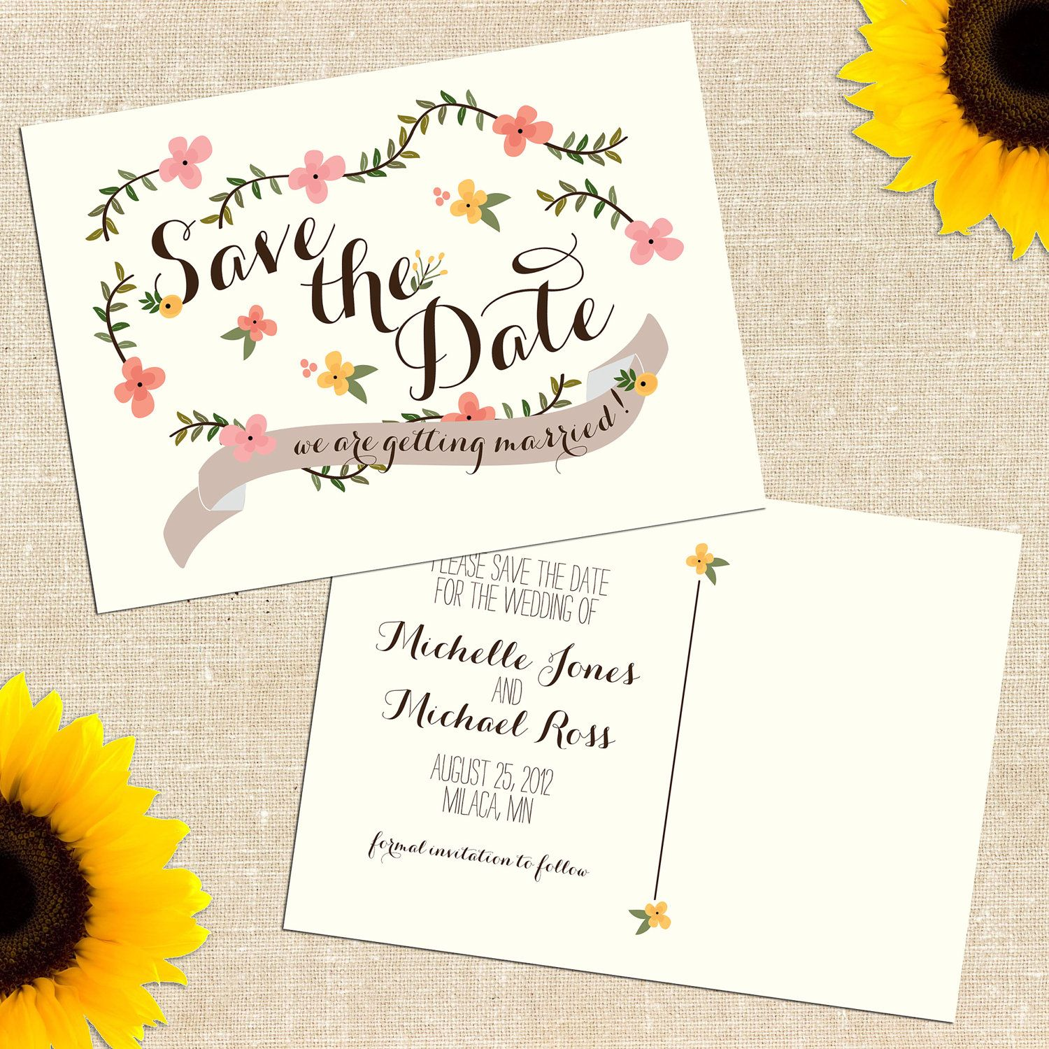 17 Best images about Save the date – Save the Date Wedding Invite