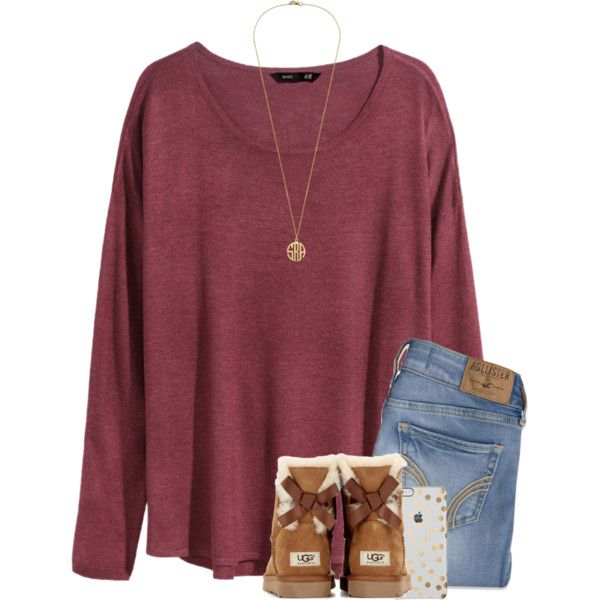 A fashion look from January 2016 featuring H&M sweaters, Hollister Co. jeans and UGG Australia boots. Browse and shop related looks.