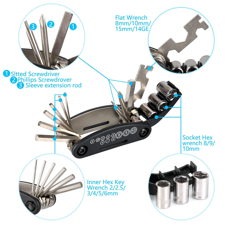 Oumers Bike Chain Tool Chain Checker 2in1 Universal Bicycle Chain