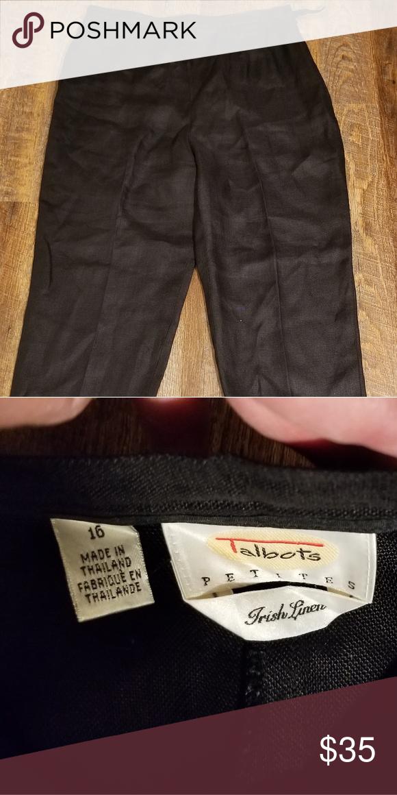 050740500ca Talbots Petit Irish Linen Pants P16 Classic linen pants. Like new  condition. Size 16 Petite. Talbots Pants Trousers