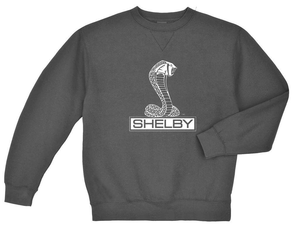 Shelby Sweatshirt Men S Crew Neck Dark Gray Shelby Cobra Muscle Car Ford Sweats Mens Sweatshirts Mens Crew Neck Sweatshirts