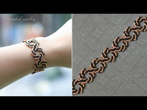 DIY whirlpool bracelet. Easy to make beaded bracel