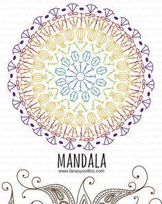 mandala free crochet pattern with video tutorial, español e inglé