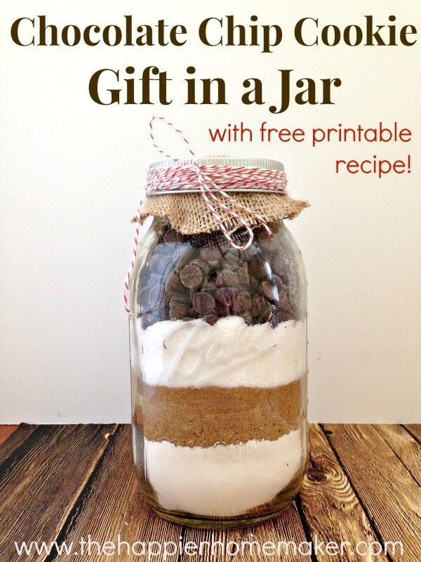 Try This Easy Recipe To Make Your Own Diy Delicious Chocolate Chip Cookie Mix In A Jar The Perfect Holiday Gift