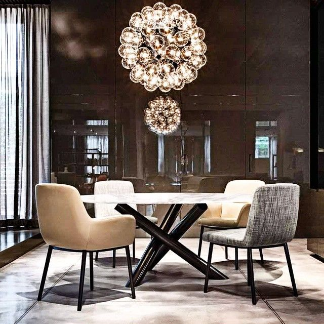 Marvelous Dining Setting Designed With Minotti Spa VanDyck Table And York Chairs