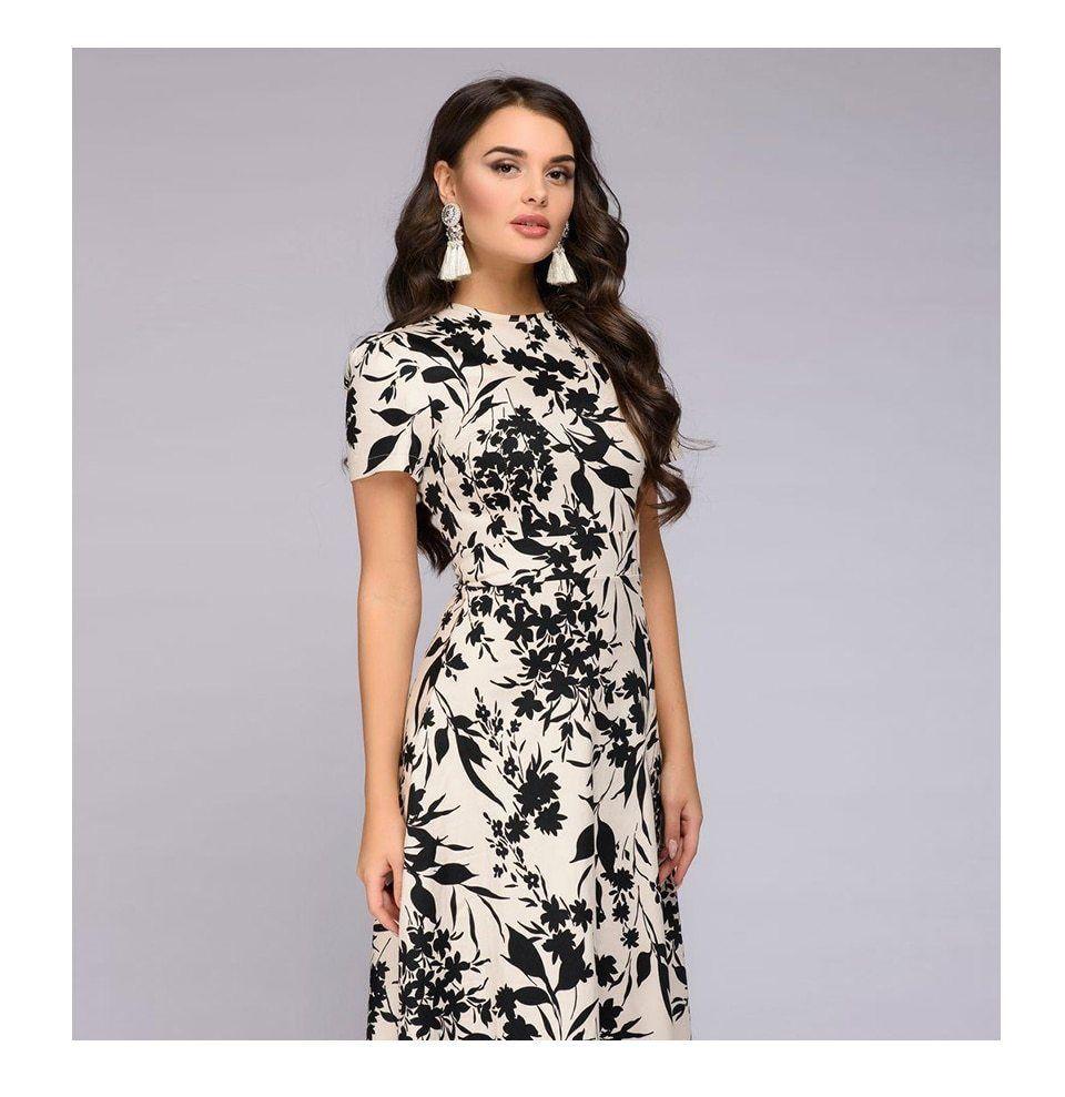 Details about elegant party long dress short sleeve slim sundress