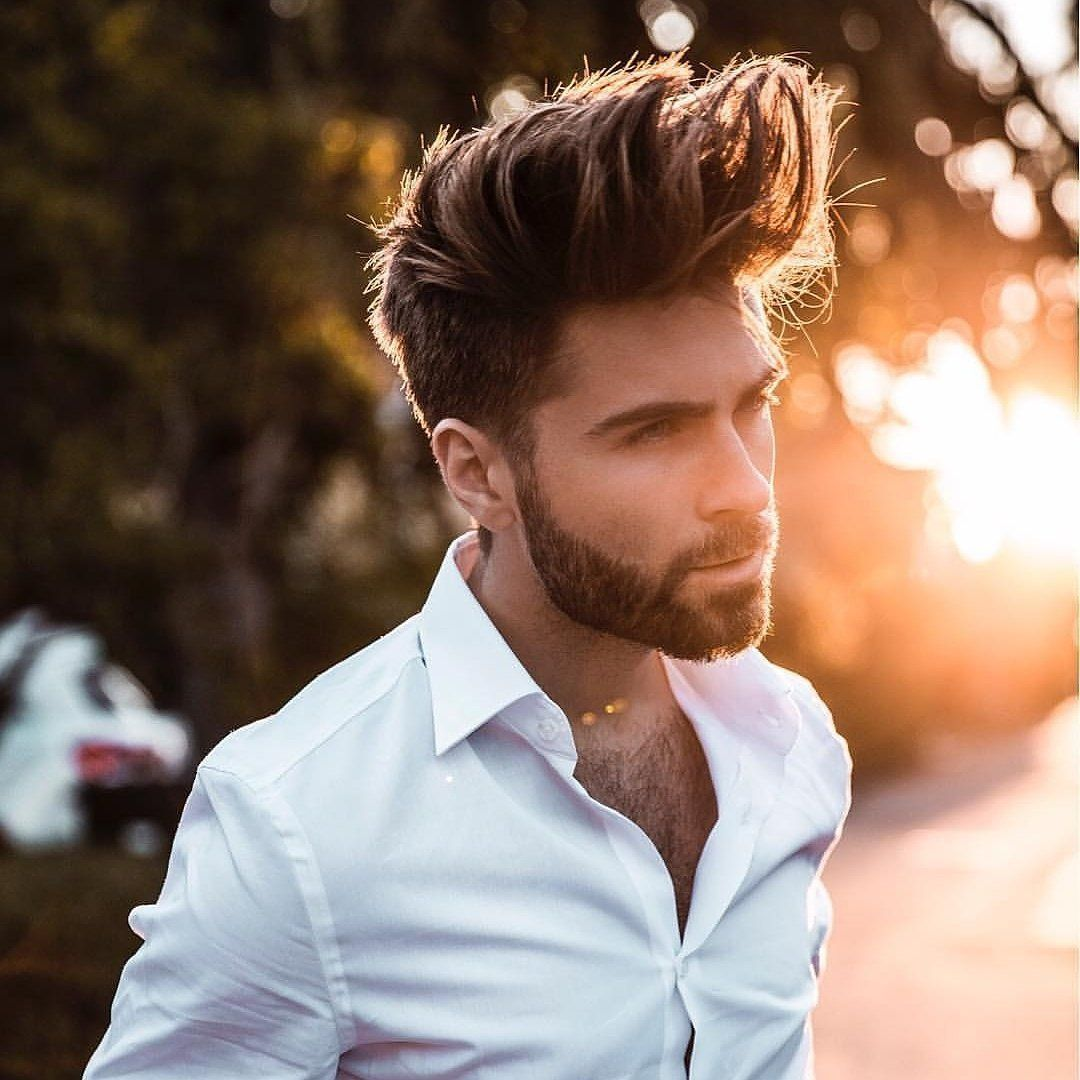 طفلتي خادمتي مكتمله Men Hair Highlights Hair And Beard Styles Pompadour Men