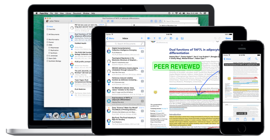 PaperShip for Mac, iPad and iPhone Annotate, Manage, and