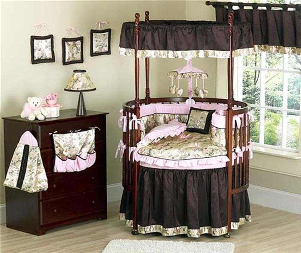 Baby cribs with canopy - Abbey Rose Round Crib Bedding Buy Round Crib Bedding Product On Alibaba Com