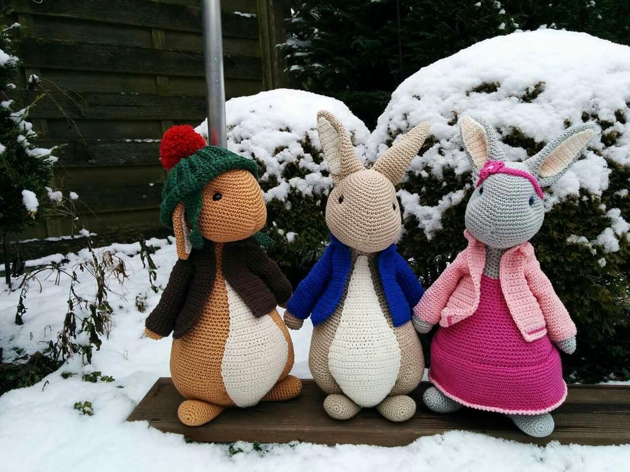 Benjamin Pieter Konijn En Lily Anja Toonen Amigurumi Crochet