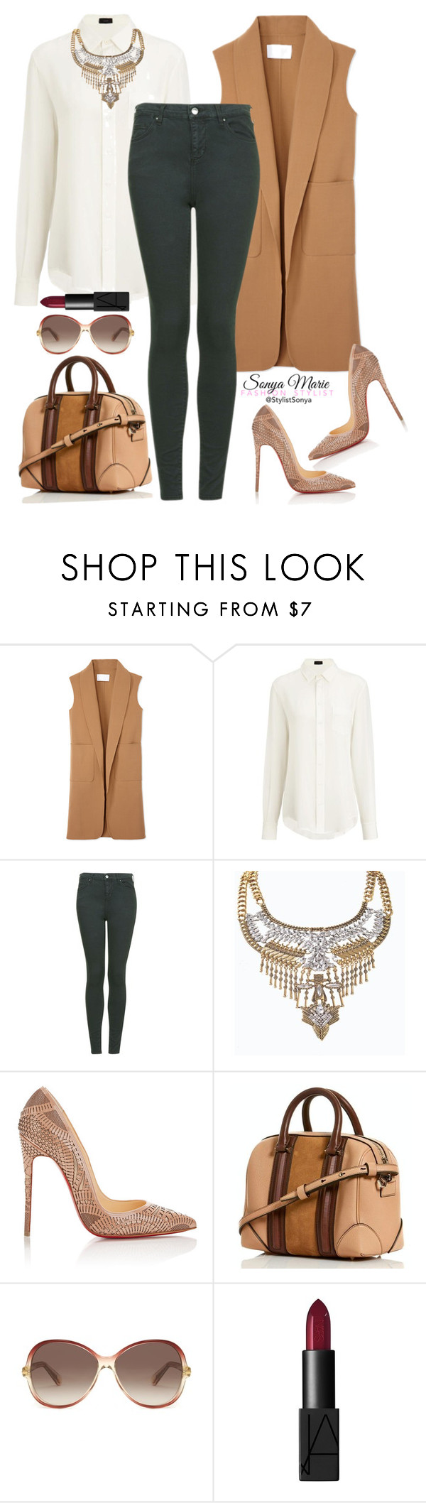 """""""Untitled #257"""" by stylistsonyamarie on Polyvore featuring Alexander Wang, Joseph, Topshop, Christian Louboutin, Marc Jacobs and NARS Cosmetics"""