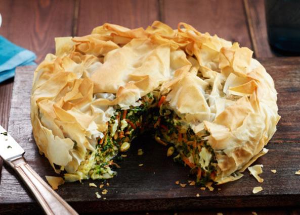 Feta and vegetable filo pie   Recipe   Food recipes, Food ...