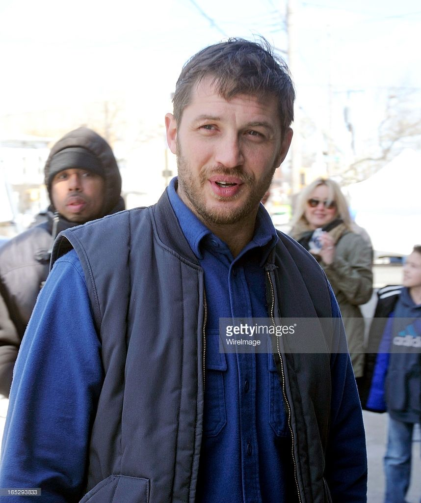 Tom Hardy filming on location for 'Animal Rescue' on April 2, 2013 in the Brooklyn borough of New York City.