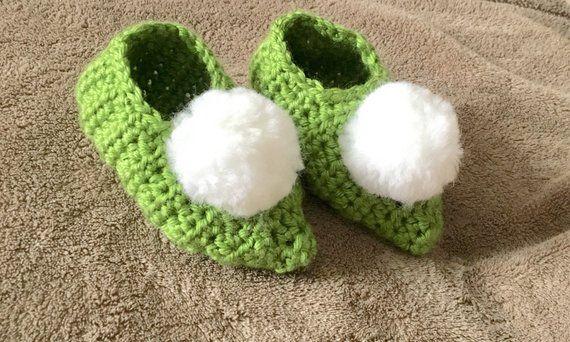 Tinkerbell fairy Slippers, girls bedroom Slippers, green ...