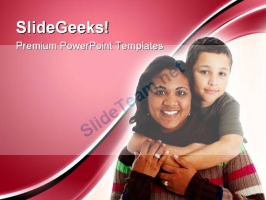 Mother And Son Family PowerPoint Templates And PowerPoint