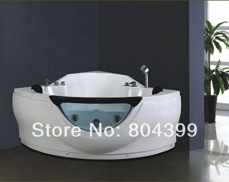 No.B280 acrylic whirlpool corner bathtub 1.4m triangle bathtub ...