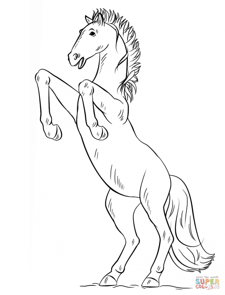 Free Printable Coloring Pages Inside Spanish Mustang Coloring Pages Printable Free Download Horse Coloring Pages Horse Coloring Free Printable Coloring Pages